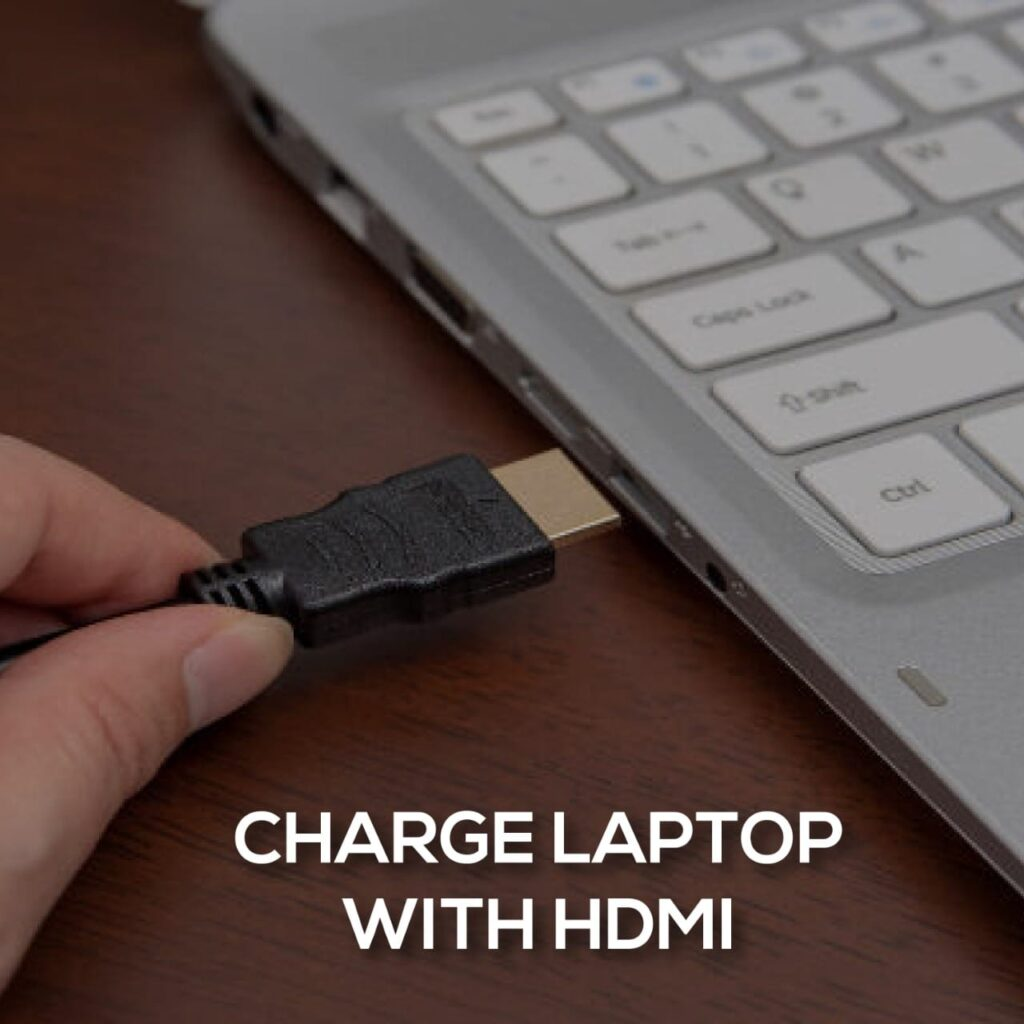 charge laptop with HDMI